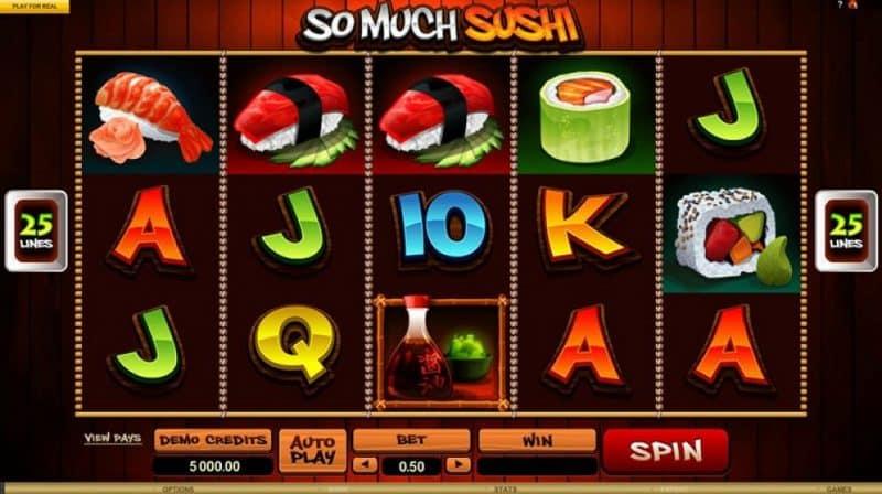 So Much Sushi หนึ่งในเเกมสล๊อตออนไลน์ ในคาสิโน ยูฟ่าเบท ufabet